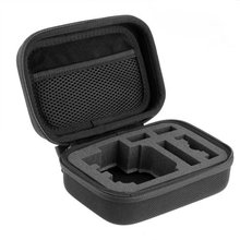 EDT-Carrying Case Pouch Bag Case Zip Black for Digital Camera GoPro Hero 1 2 3 3+