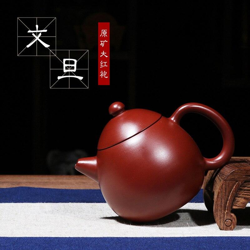 Théière chinoise Yixing Kungfu fait à la main Pot de pomme de terre Dahongpao ensemble de thé à la boue théières