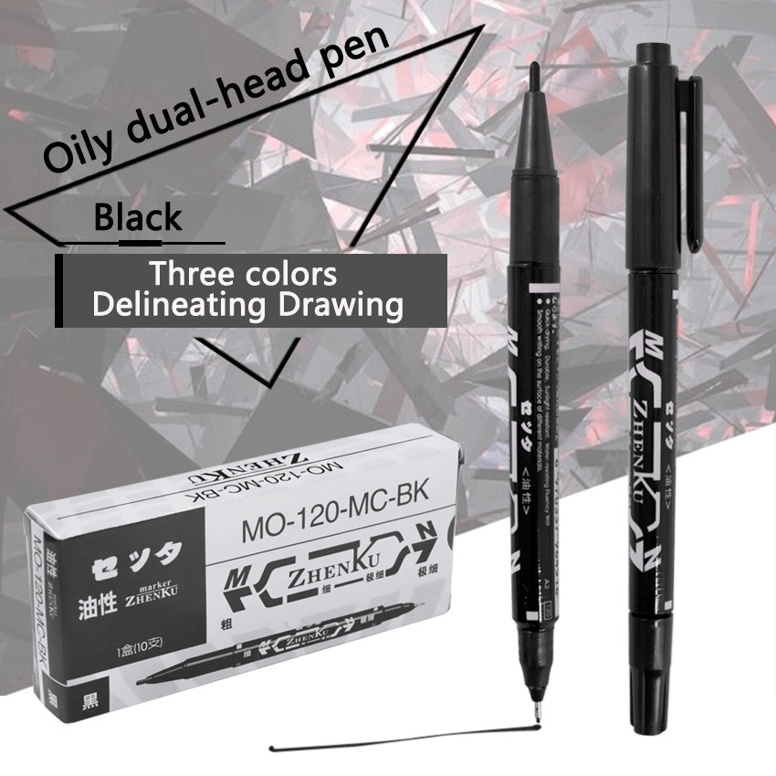 Тату Перманентный маркер макияж микроблейдинг бровей тонкий инструмент писчий черный/красный/синий Дополнительно пирсинг маркер положение питания