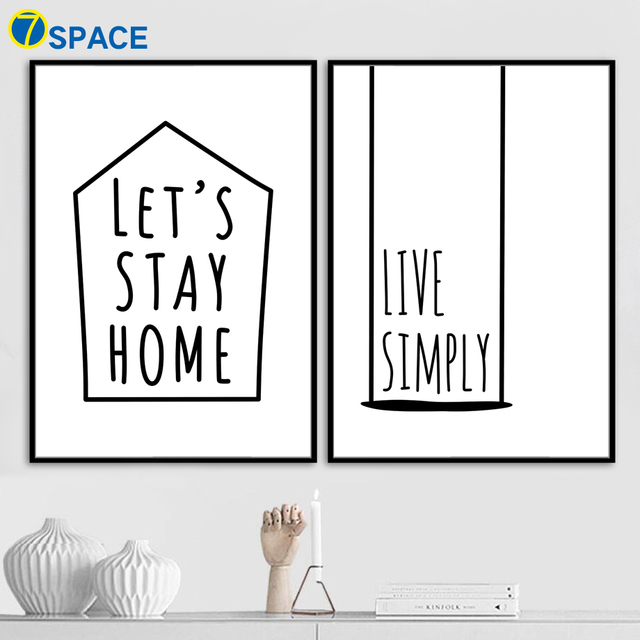 Cartoon Home Quotes Nordic Posters And Prints Wall Art Canvas Impressive Cartoon Home Quotes