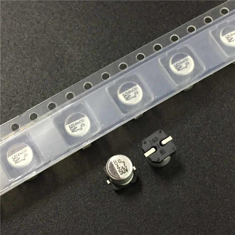 10 Chiếc 4.7 UF 50V Elna RV2 Series 5X5.3 Mm 50V4.7uF Loại Chip SMD Nhôm Điện Phân Tụ Điện