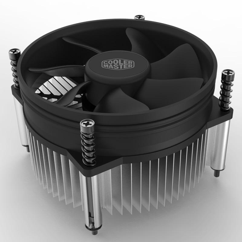 Кулер Master i30 i50 для мини-процессора, радиатор 95 мм, тихий вентилятор для intel LGA 775 1150 1151 1155 1156 для AIO и M-ATX, охлаждение