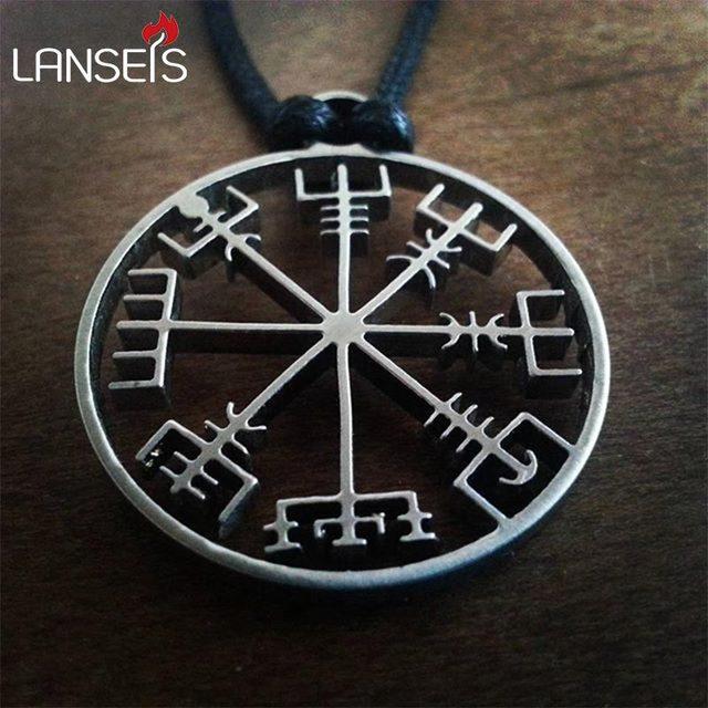 1pcs Viking Odins Symbol Of Norse Runic Pendant Necklace Viking
