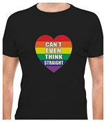 OKOUFEN Make Custom T Shirts Regular Gay Love Can T Even Think Straight Gay Lesbian Pride