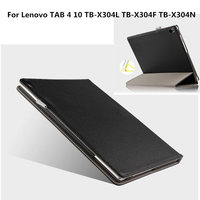 Genuine Leather Case Cover For Lenovo TAB4 Tab 4 10 X304L TB X304F TB X304N Protective