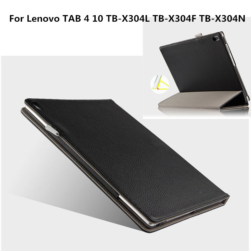 Genuine leather Case Cover For Lenovo TAB4 Tab 4 10 X304L TB-X304F TB-X304N Protective covers TB-X304 N F 10.1 Tablet PC Cases case for lenovo tab4 tab 4 10 tb x304l tb x304f tb x304n 10 1 smart cover funda tablet stand pu leather protective skin shell