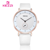 Lover S Couple Watch KEZZI Brand Mens Womens Simple Watches Luxury Fashion Business Leather Strip Watch