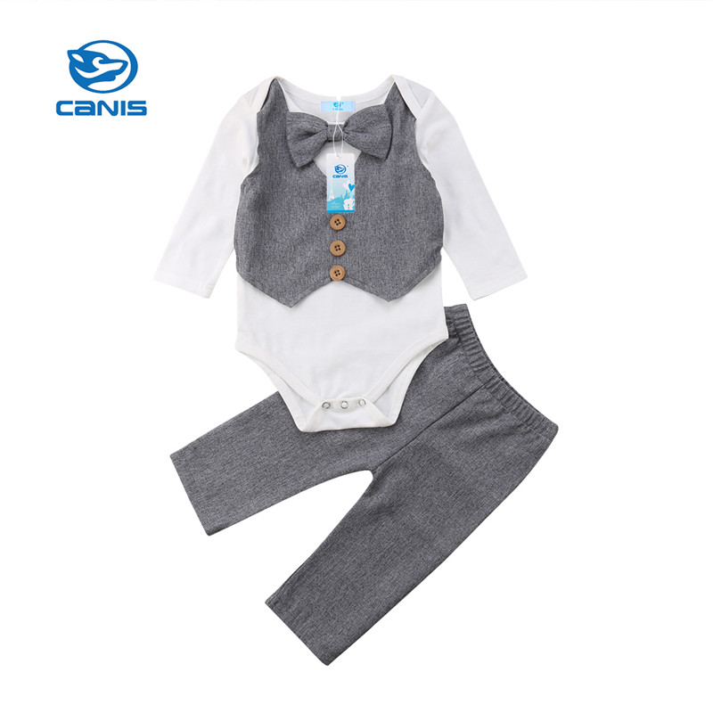 pants outfits gentleman 2pcs Toddler Kids baby boys tracksuit set pullover top