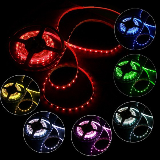 ¡¡¡Caliente!!! 5M / rollo de alta calidad SMD 5050 RGB multicolor - Iluminación LED