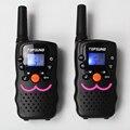 De largo alcance VT8 PMR446 1 W portátil de 2 vías de radio walkie talkies móvil par UHF transceptor transmisor LED flashlight w/cargador