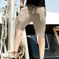 גברים גברים מזדמנים ללבוש מכנסיים פשתן מכנסיים קצרים חוף מהיר ייבוש הפתילה גברים מכנסיים חוף הקיץ 2016 מותג חדש