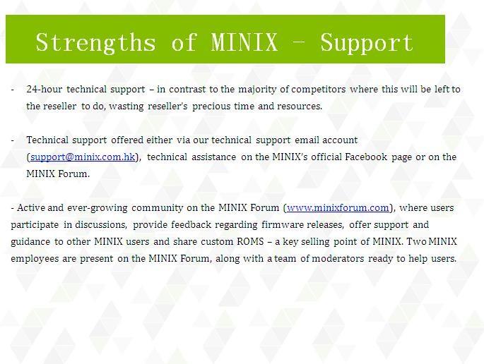 MINIX support