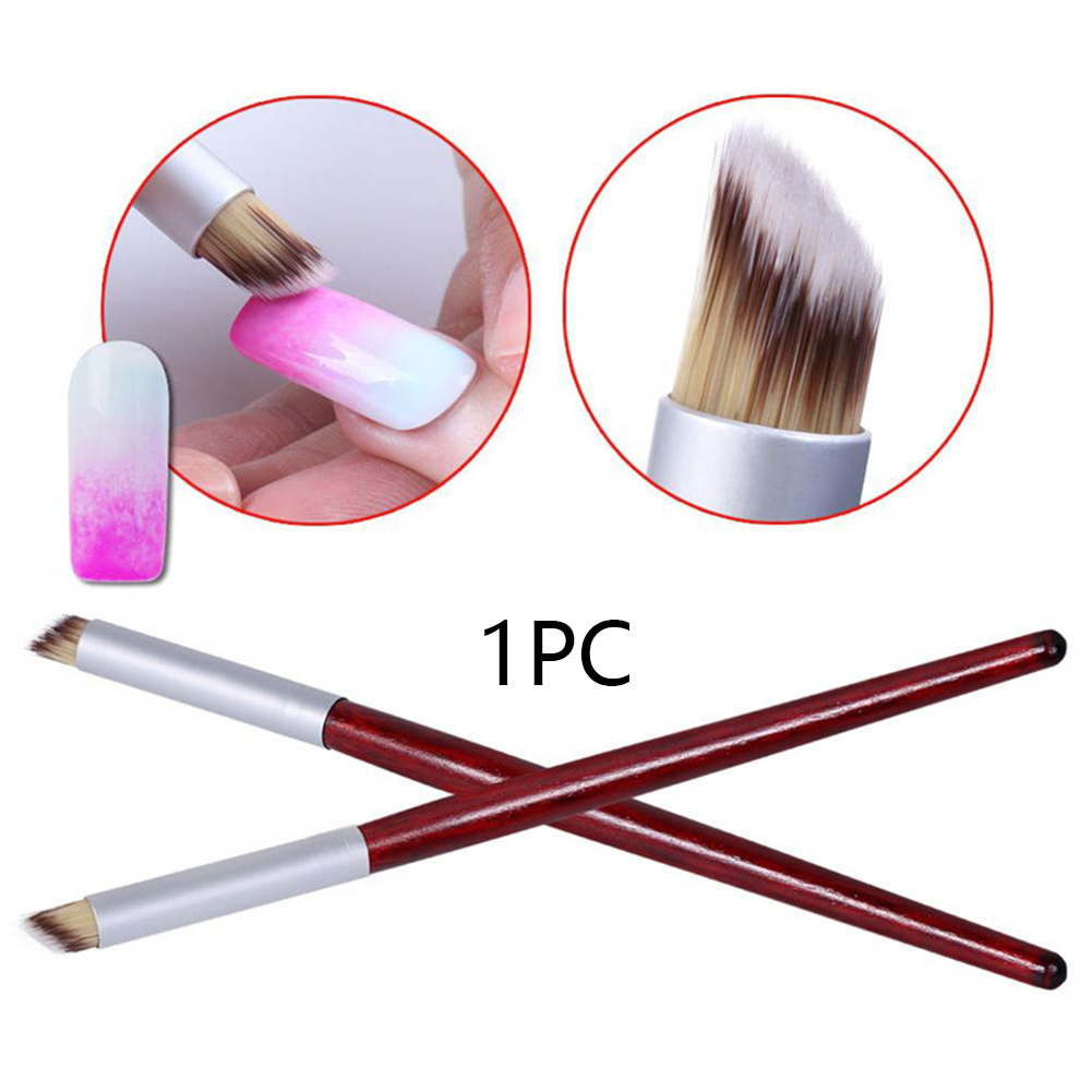 Nail Art Gradient Manicure Tool Home Bevel Practical Professional Portable Travel Brush Shaped Decorated Painting Pen Wooded