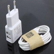 Горячая USB быстрое зарядное устройство Высокое качество ЕС штекер 2.0A/1.0A настенное зарядное устройство Мини два порта USB Светодиодный светильник адаптер питания для быстрой зарядки