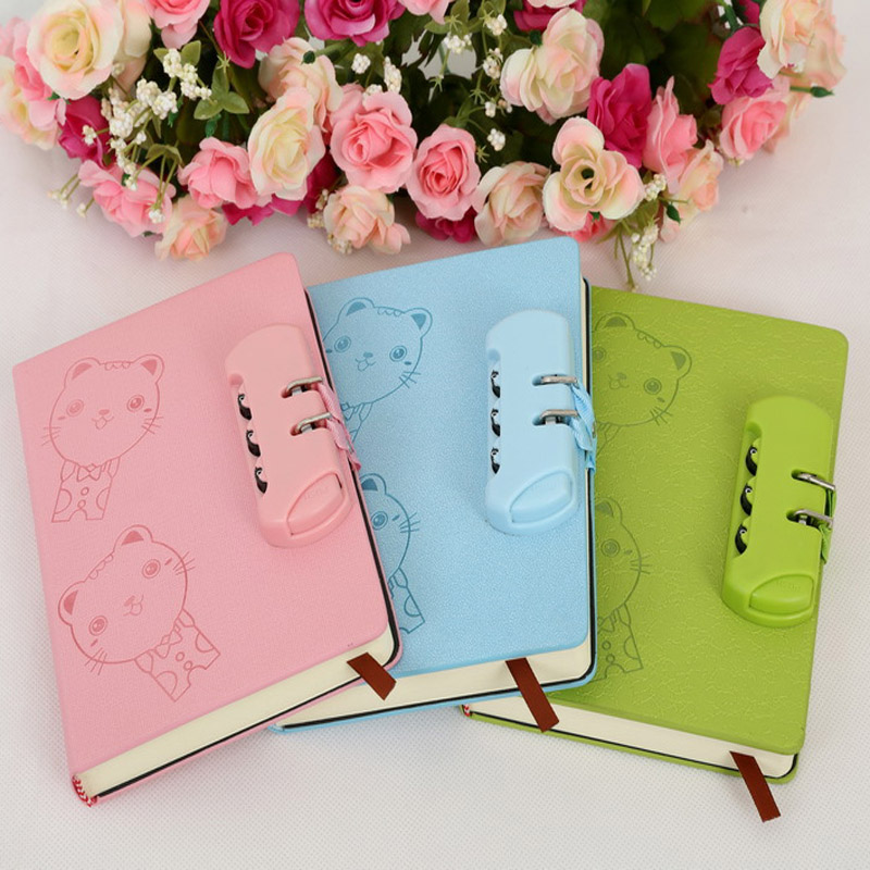 Password Lock Diary Notebook Office Stationery School Supplies Latest Cute Plan Memorandum Creative Cartoon Kawaii Notepad HOT creative leather notebook a5 school office supplies stationery cute diary notebooks metal rubber buckle conference notepad gift
