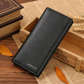 Fashion Mens Wallets Men Long Wallets Famous Brand Cowhide Leather Mens Wallet Leather Genuine