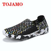 TOJAMO Breathable Braid Men's Casual Shoes zapatillas hombre casual casual shoes men Sneakers Outdoor Light Fashion Flat S