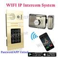 Nueva Llegada WIFI Inalámbrico Teléfono Video de La Puerta Sistema de Intercomunicación, 1 Timbre WIFI Cámara de Visión Nocturna + 1 Magnética Electrónica bloqueo