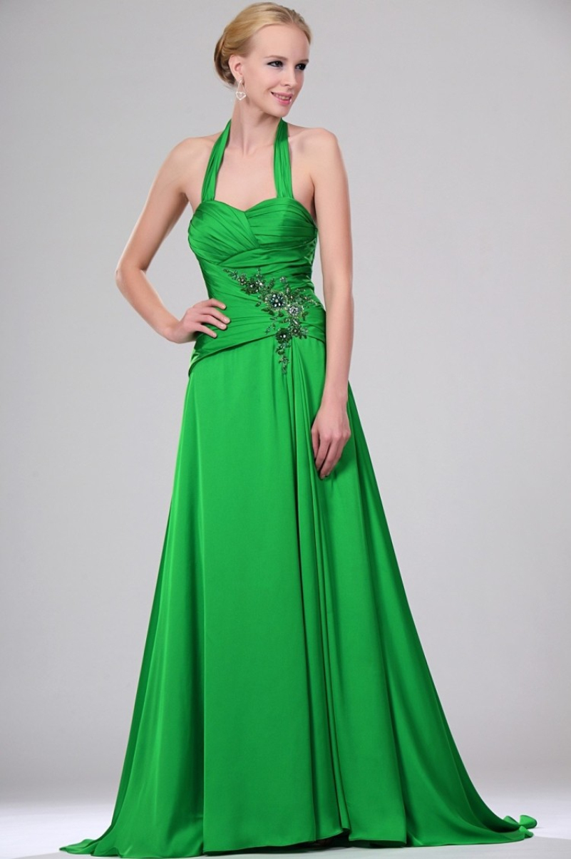 Clover green bridesmaid dress gallery braidsmaid dress cocktail formal kaftan dresses gallery dresses design ideas evening dress green satin removable halter pleated sweep formal ombrellifo Choice Image