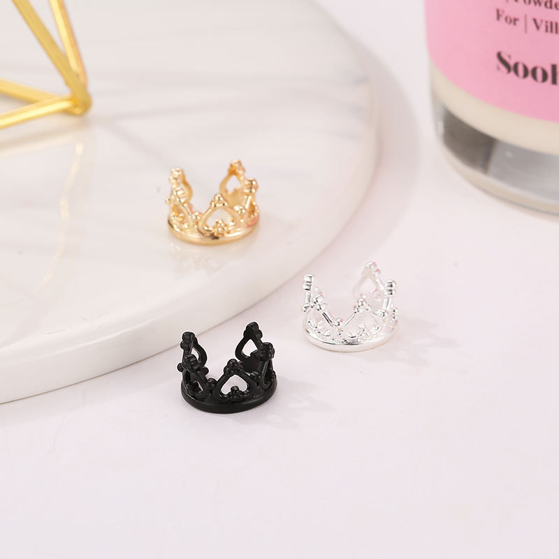 Hearty 6 Cute Daisies Flower Connected U-shaped Elegant Golden Silver Black Clip Earrings Ear Cuff For Women Meticulous Dyeing Processes
