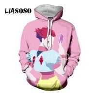 LIASOSO 3D Print Women Men Anime Hunter x Hunter Hisoka Killua Gon Hooded Hoodies Sweatshirts Casual Harajuku Hip Hop Tops X2377