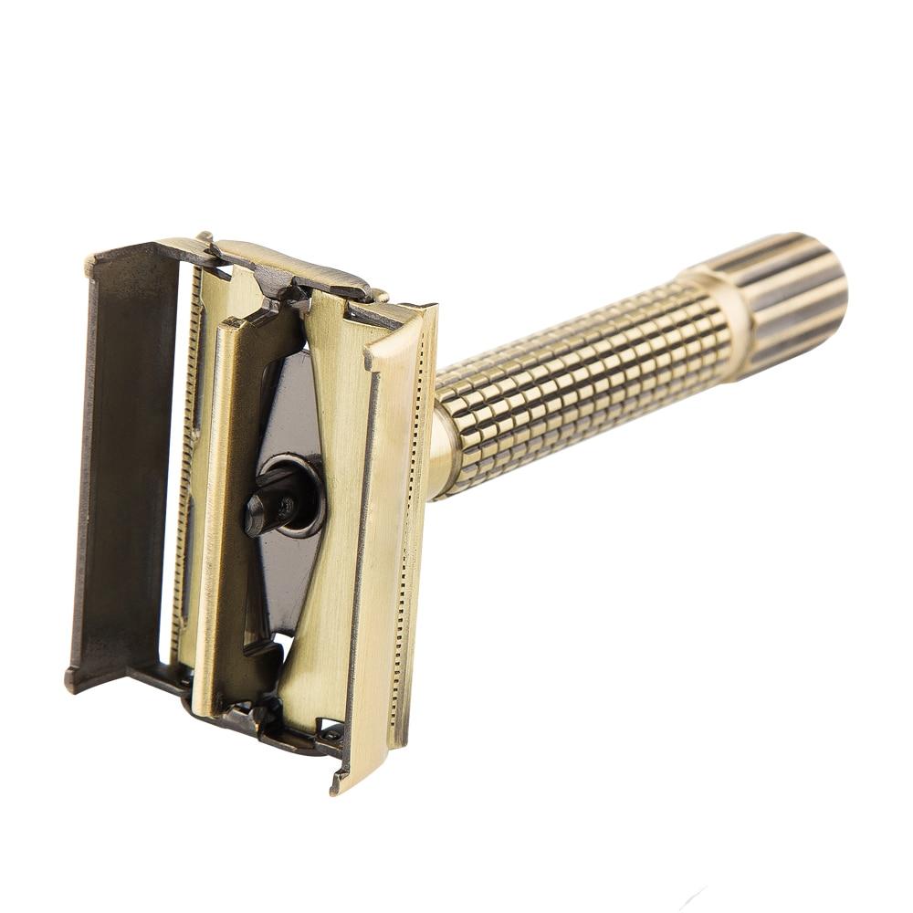 Razors For Shaving Men Classic Safety Razor Holder Travel Kit Bronze Manual Chrome Brass Butterfly double edge razor