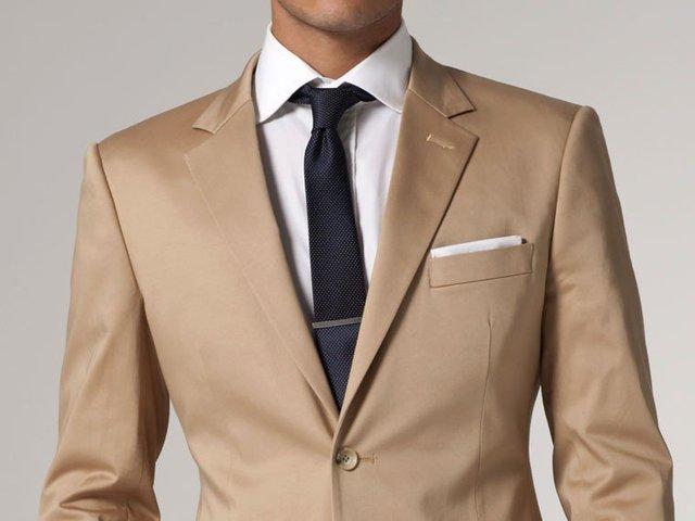 Tailored man suit 2015 Light Kahki Color Suit Slim Fit WEDDING ...