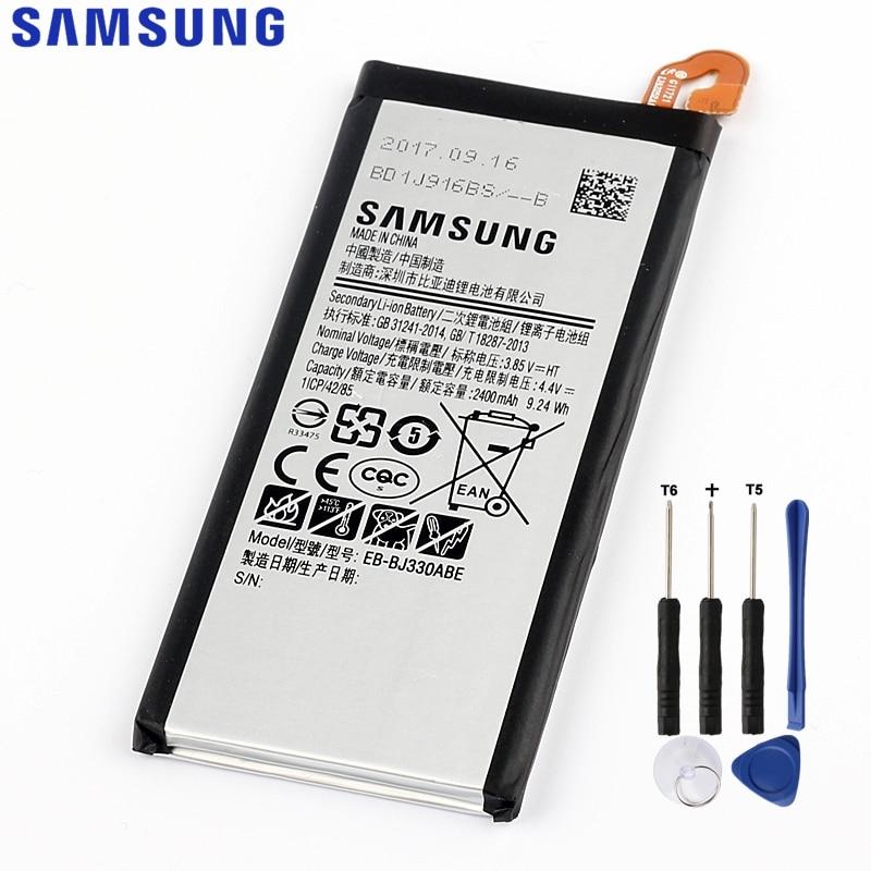 D'origine de Remplacement Samsung Batterie Pour Galaxy J3 2017 SM-J330 J3300 2017 Édition Véritable Téléphone Batterie EB-BJ330ABE 2400 mah