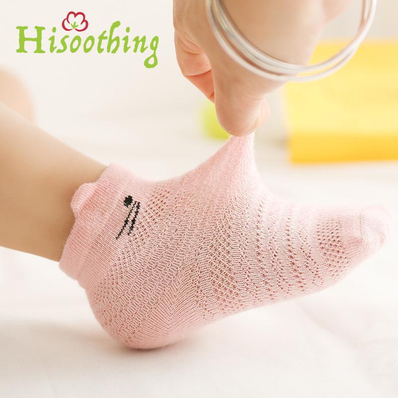 Unisex Baby Girl Boy Summer Cotton Cartoon Socks Infant Toddler Kids Mesh Thin Boneless Knee Length Socks 3Pairs/Lot Pack ombre circle calf length socks