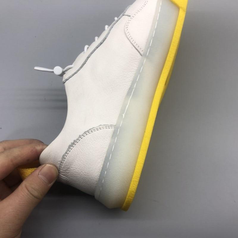 Новинка; сезон весна; мужские спортивные кроссовки с эластичным ремешком; кожаные кроссовки на плоской подошве; уличные кроссовки для бега; ... - 2