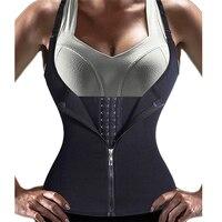 Adjustable Shoulder Strap Waist Trainer Vest Corset Women Zipper Hook Body Shaper Waist Cincher Tummy Control