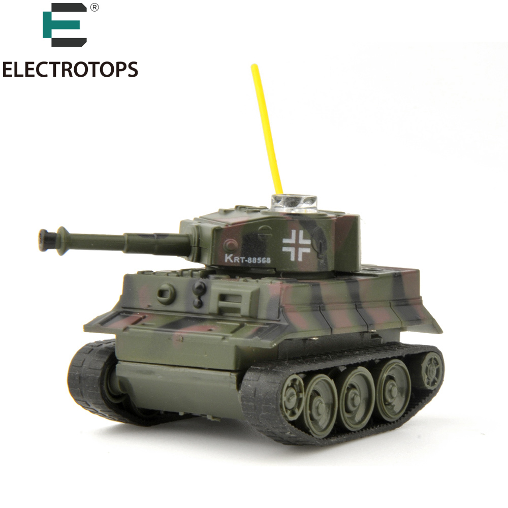 E T RC Battle Tank Toys Mini Plastic Material Battery ...