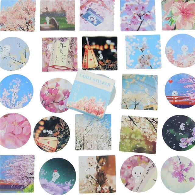 40 Pcs/box Cute Cherry Mini Paper Sticker Set Decoration Diy Diary Scrapbooking Sealing Sticker Kawaii  Stationery