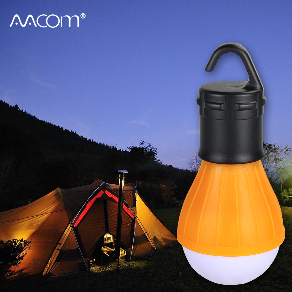 Outdoor LED Tent Lamp Waterproof Portable LED Diode Camping Light Bulb Emergency Lighting AAA Battery Powered Four Colors Choice