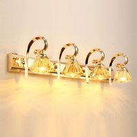 LED Luxury Modern Gold Crystal Bathroom Wall Light Bathroom fashion Mirror Front Washroom Corridor Wall Lamp Fixtrue