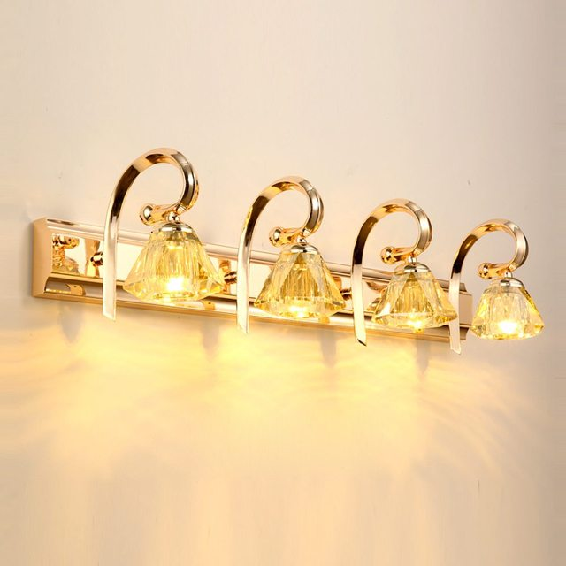 LED Luxus Moderne Gold Kristall Bad Wand Licht Badezimmer Mode Spiegel  Front Waschraum Korridor Wand Lampe