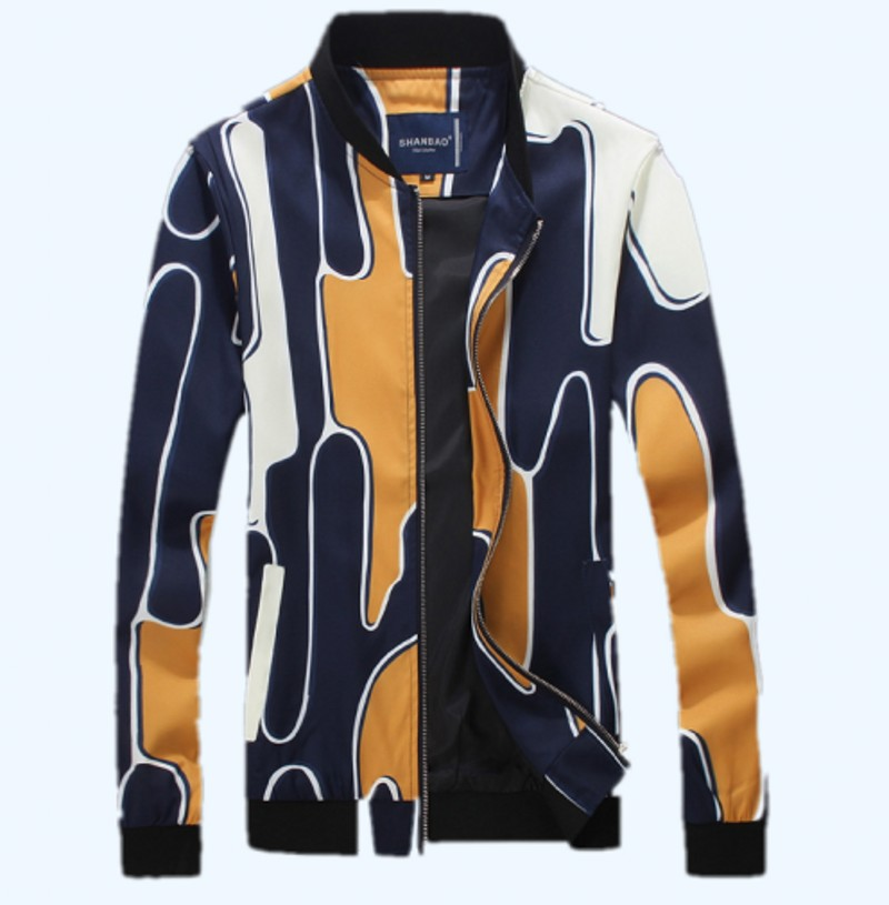 <font><b>Printing</b></font> high-quality men's casual <font><b>jacket</b></font> 2016 new autumn and winter, <font><b>rib</b></font> sleeve <font><b>jacket</b></font> men's large size