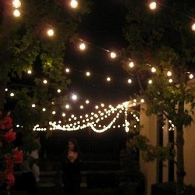 G40 25 Tungsten Decorative String Lights Camping Party Patio Led