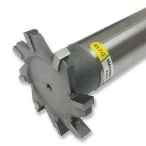 Image 2 - MZG Schneiden Gerade Zahn 16 30mm T Slot Fräser Schweißen Rand Typ Wolfram Stahl Seite fräser Nut Verarbeitung