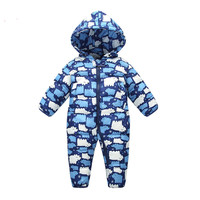 High Quality Baby Winter Rompers Baby Boys Girls Windproof Clothing Kids Costume Warm Print Jumpsuit Drop