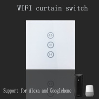 Tuya App EU Wifi Smart Touch Curtain Switch Voice Control By Alexa And Google Phone Control