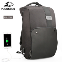 Kingsons New Men Backpack For 15 6 17 3 Inches Laptop Backpack Large Capacity Stundet Backpack