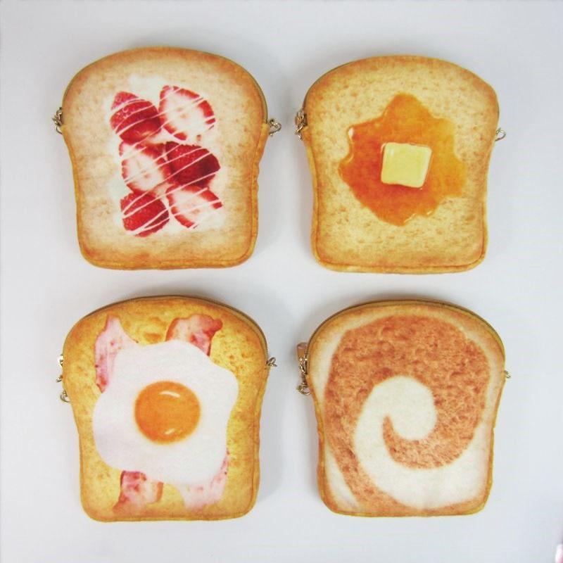 2017 New Personlity Cute Creative Fun Bubble Egg Bread Bread Chain Mobile Phone Pack Coin Purse Bag