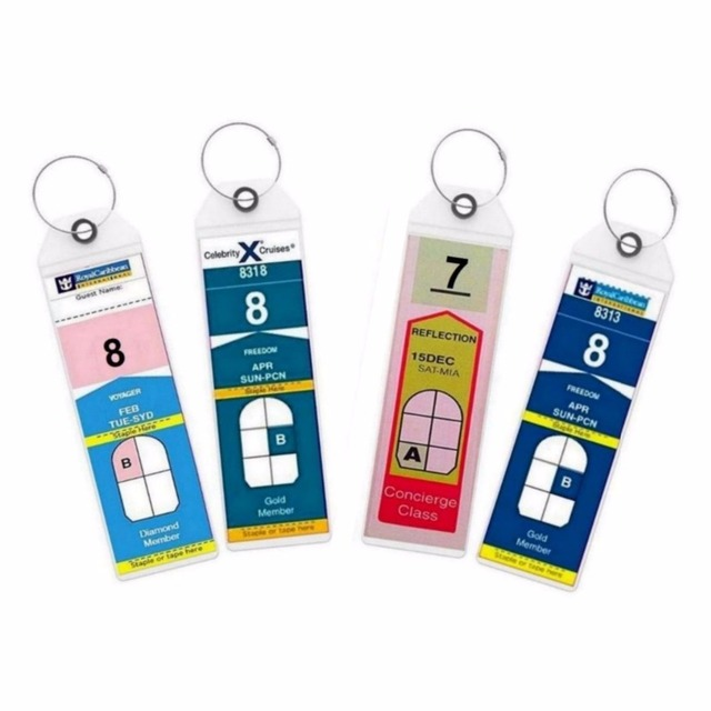Royal Caribbean & Celebrity Cruise Ship with Zip Seal Tags