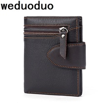 Weduoduo Classic Style Wallet Genuine Leather Men Wallets Short Male Purse Card Holder Wallet Men Fashion High Quality недорого
