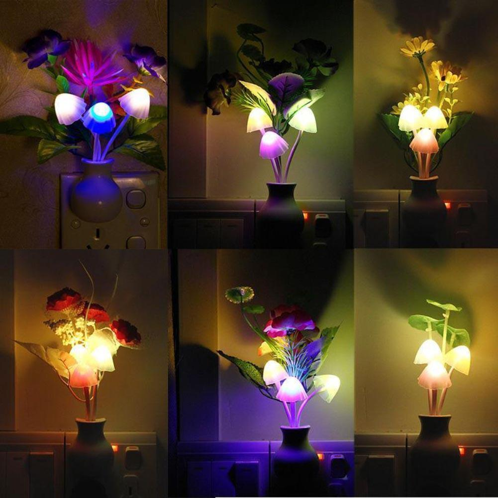 220V Baby Romantic Colorful Dream Sensor LED Night Light