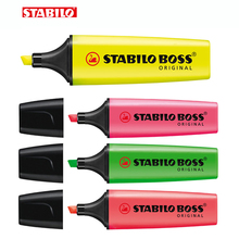 Stabilo Textmarker Boss Original 70 Highlighter Germany Purple/yellow/Pink/Orange/Light Green/Blue/Green/Rose Pink/Red color centrifuge tubes test tube rack polypropylene blue green pink yellow orange pack of 5 pcs