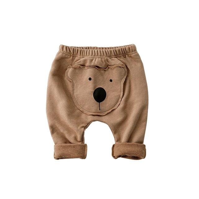 9e7fc5d1357cbe R$ 36.89 7% de desconto|Orangemom macio calças urso dos desenhos animados  do bebê PP leggings para a primavera de Lazer do bebê calças de menino ...