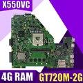XinKaidi новая X550VC материнская плата для ноутбука ASUS X550VC R510V X550V X550 тест оригинальная материнская плата 4G RAM GT720M-2G