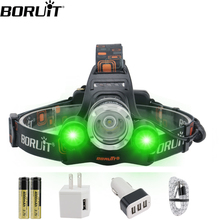 цена на BORUiT XM-L2 R5 LED Headlight RJ-300018650 Battery USB Charger Headlamp 4-Mode Waterproof Head Torch Camping Fishing Flashlight
